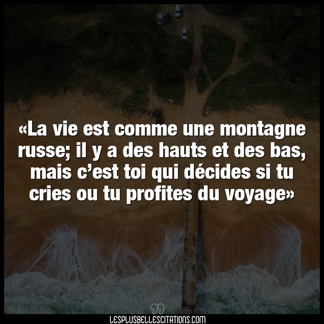 La vie est comme une montagne russe